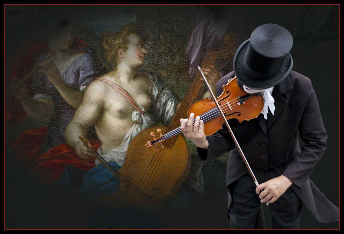 8.-Dinamir-Predov-AFIAP-Violist-and-Ancient-Girl
