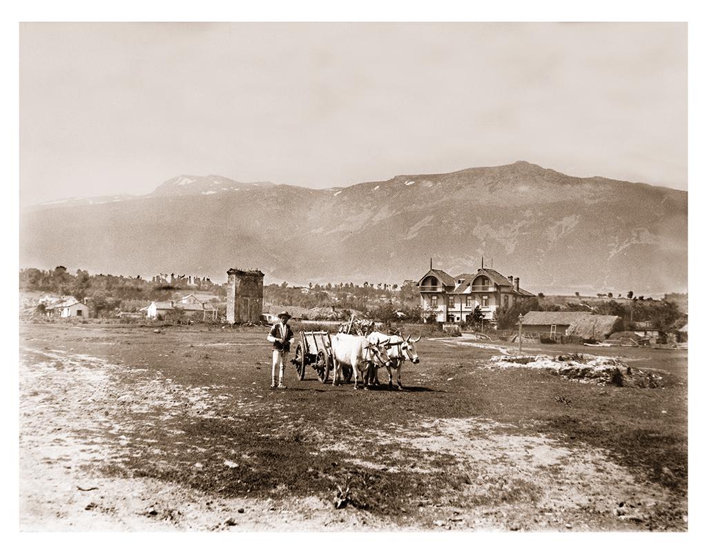 Старата (Римската стена) в София. 1900-1910 г. ©Георг Волц