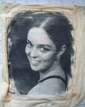 Портрет – копиране с течна емулсия вьрху коприна.